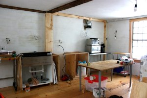 The kitchen-to-be, in all its  unfinished glory.